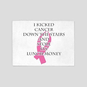 Breast Cancer Bully 5'x7'Area Rug
