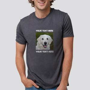 Dog Golden Retriever Mens Tri-blend T-Shirt