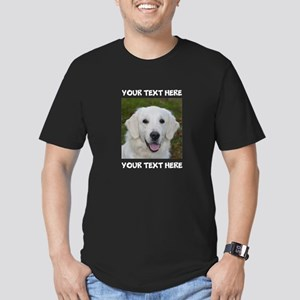 Dog Golden Retriever Men's Fitted T-Shirt (dark)