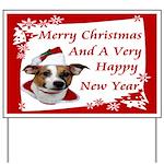 JRT Christmas Greeting Yard Sign