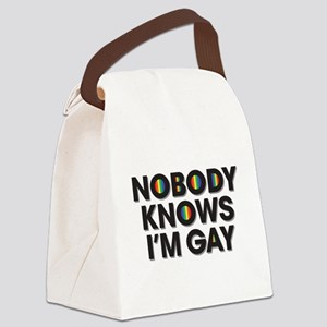 Nobody Knows I'm Gay Canvas Lunch Bag