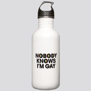 Nobody Knows I'm Gay Stainless Water Bottle 1.0L
