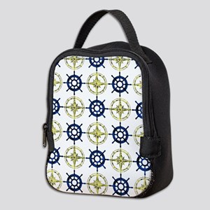 Wheel and Compass Neoprene Lunch Bag