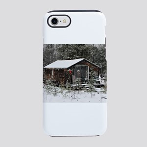 Snowing at Cottage iPhone 8/7 Tough Case