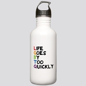 LGBTQ - Life Goes By T Stainless Water Bottle 1.0L