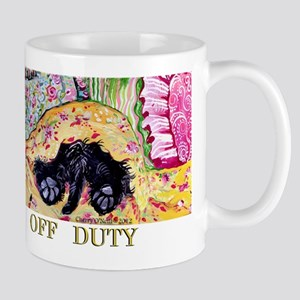 Off Duty Scottish Terrier Large Mugs