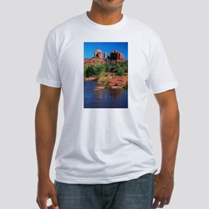 Cathedral Rock, Sedona Fitted T-Shirt