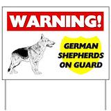 German shepherd Yard Signs