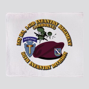 1-143d Inf Regt - 36th Abn Div - Mas Throw Blanket