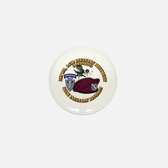 1-143d Inf Regt - 36th Abn Div - Mass Mini Button