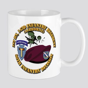1-143d Inf Regt - 36th Abn Div - Mass T Mug