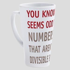 Odd Even Numbers 17 oz Latte Mug