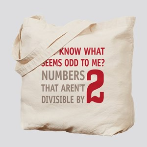 Odd Even Numbers Tote Bag