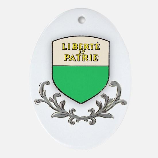 Canton Vaud Oval Ornament