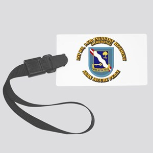 Flash - 1st Bn 143rd Infantry Re Large Luggage Tag