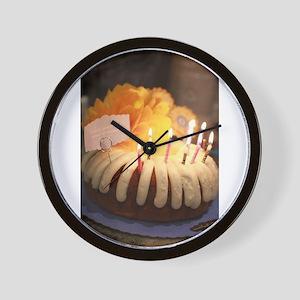 birthday bundt cake Wall Clock