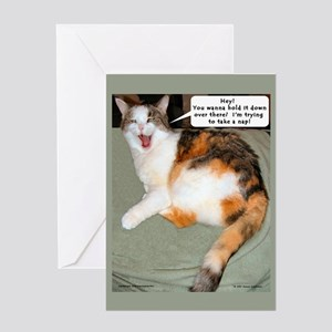 Calico Catnap Blank Greeting Card