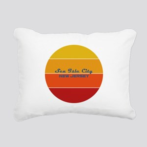 New Jersey - Sea Isle Ci Rectangular Canvas Pillow