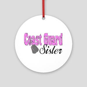 Coast Guard Sister Ornament (Round)