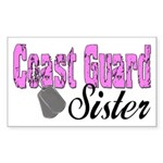 Coast Guard Sister Rectangle Sticker