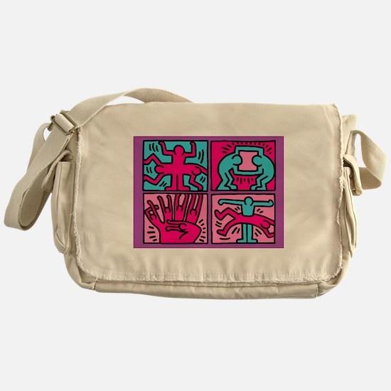 pop art Messenger Bag
