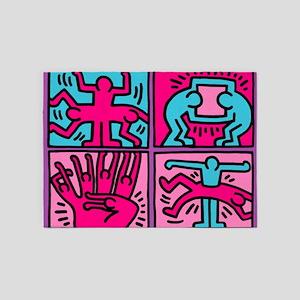 pop art 5'x7'Area Rug