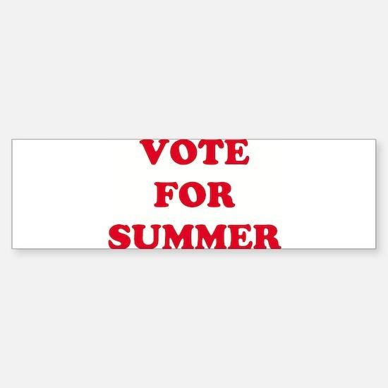 VOTE FOR SUMMER Bumper Bumper Bumper Sticker