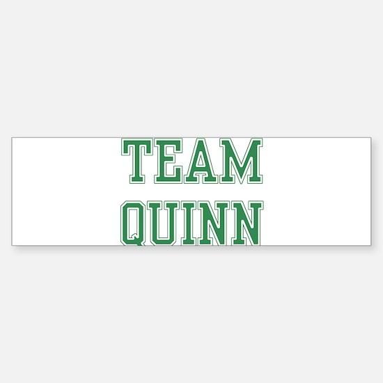 TEAM QUINN Bumper Bumper Bumper Sticker