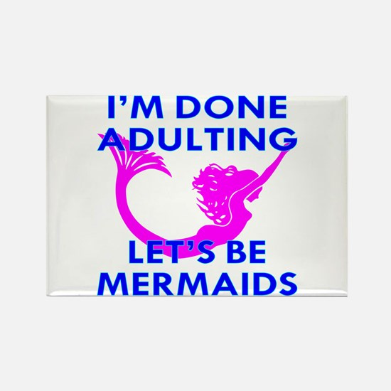 Let's Be Mermaids Rectangle Magnet
