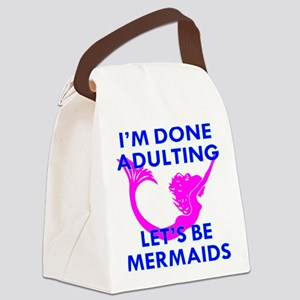 Let's Be Mermaids Canvas Lunch Bag