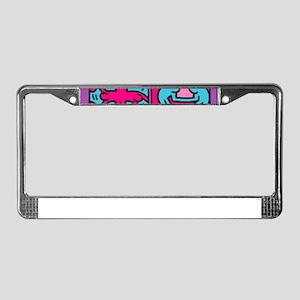 pop art License Plate Frame