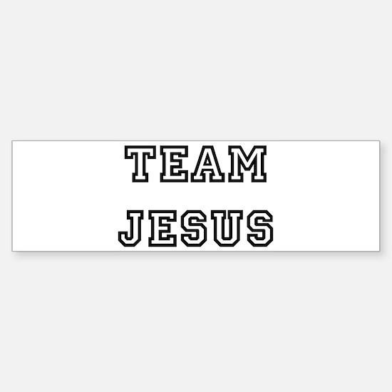 TEAM JESUS Bumper Bumper Bumper Sticker