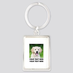 Golden Retriever Dog Portrait Keychain