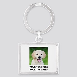 Golden Retriever Dog Landscape Keychain