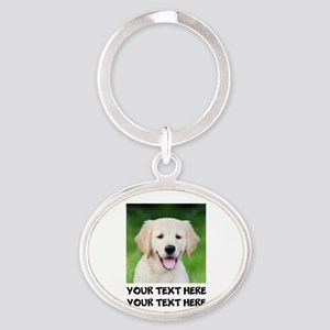 Golden Retriever Dog Oval Keychain