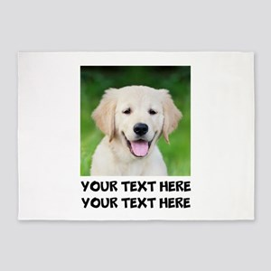 Golden Retriever Dog 5'x7'Area Rug
