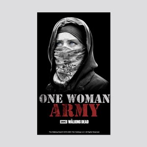 One Woman Army Sticker (rectangle)