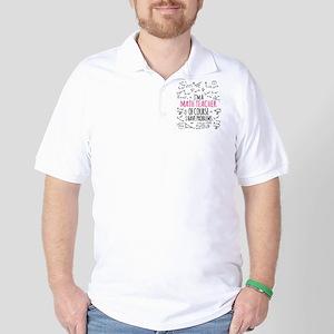 Math Teacher With Problems Golf Shirt