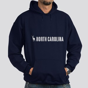 Deer: North Carolina Hoodie (dark)