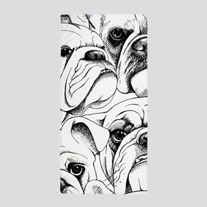 Bulldog Collage Beach Towel