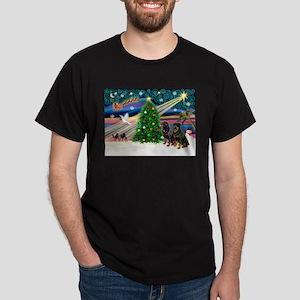 XmasMagic/2 Rotties Dark T-Shirt