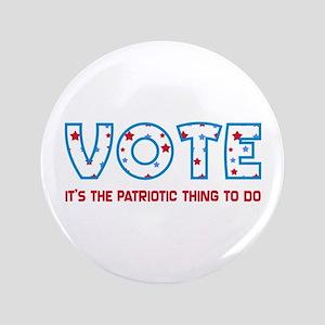 Patriotic Vote Large Button