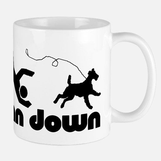 man down airedale Large Mugs