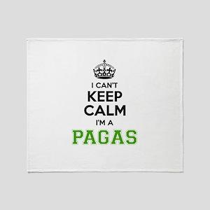 Pagas I cant keeep calm Throw Blanket
