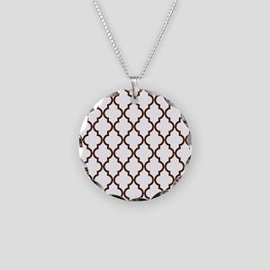 Moroccan Quatrefoil Pattern: Necklace Circle Charm