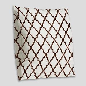 Moroccan Quatrefoil Pattern: C Burlap Throw Pillow