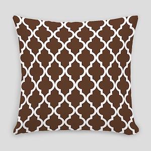 Moroccan Quatrefoil Pattern: Choco Everyday Pillow