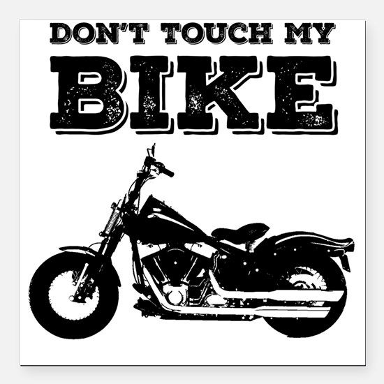 "Motorcycle Square Car Magnet 3"" x 3"""