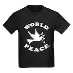 World Peace, Peace and Love. Kids Dark T-Shirt