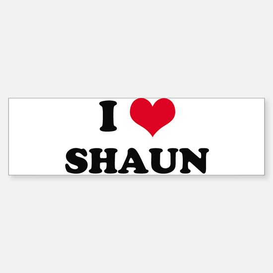 I HEART SHAUN Bumper Bumper Bumper Sticker
